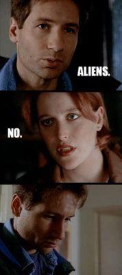 X Files humor :) yesss