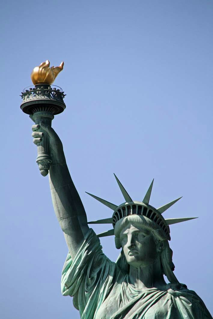 New York, America - Statue Of Libery.