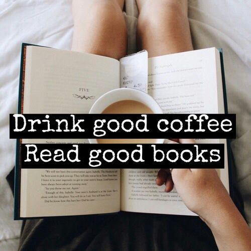 gambar book, coffee, and read