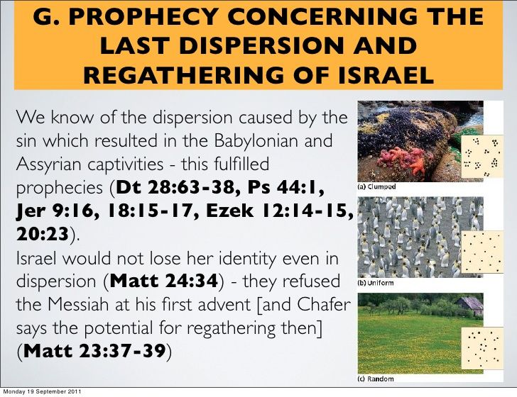 Chafer, Bible Doctrines: Israel in history and prophecy