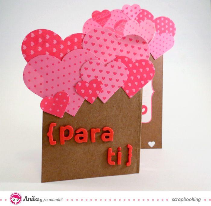17 mejores im genes sobre creaciones de amor en pinterest - Como hacer tarjetas para regalar ...
