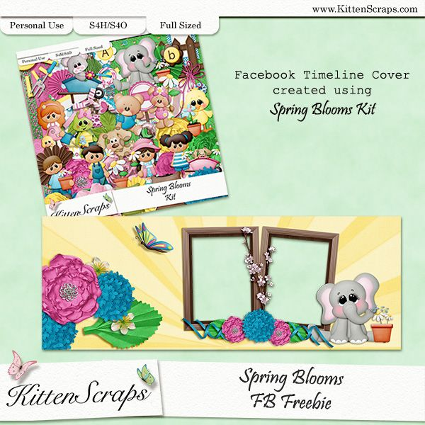 Past Facebook Fan Freebie by KittenScraps, Digital Scrapbooking