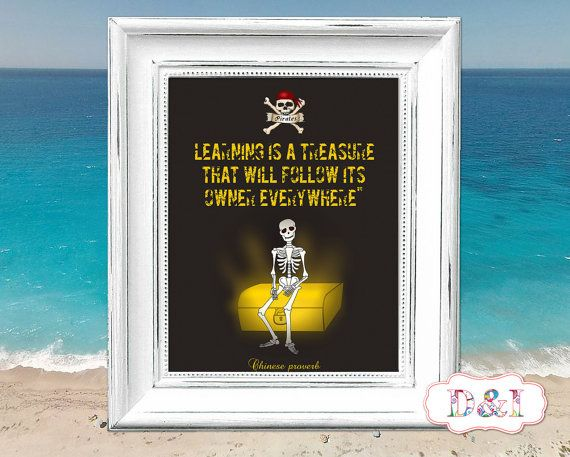 Treasure of Pirates - Wall Art Print ~ Instant download, JPG PDF Printable