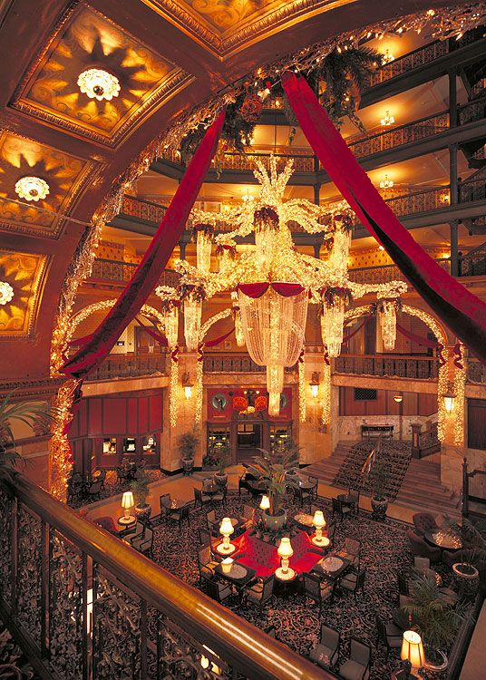 The Brown Palace Hotel and Spa Denver--this is where my Aunt and Uncle had their wedding reception!