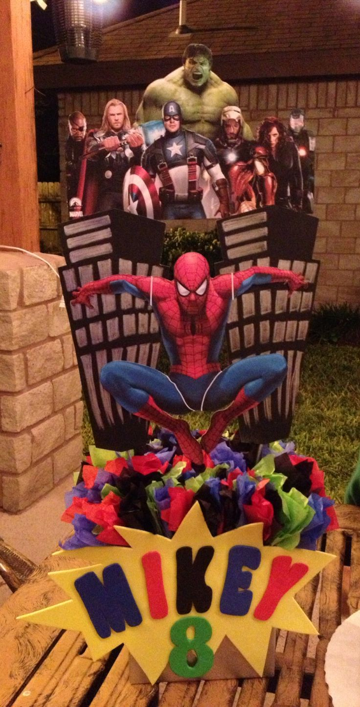 Spider-Man / Avengers Centerpiece   RubysKreations ...