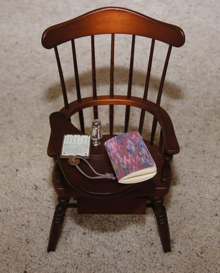 "Windsor Writing Chair & Lesson Pcs 18"" FELICITY American Girl Doll MINT w/ Box via eBay SOLD 11/2/14  $67.00"