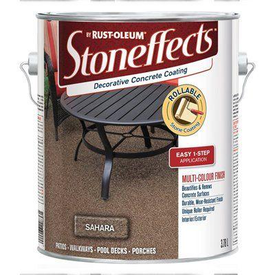 Rust-Oleum Stoneffects 3.78 L Flat Water-Base Decorative Concrete Coating