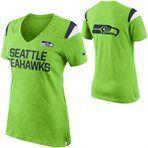 Nike Seattle Seahawks Ladies Fan T-Shirt - Neon Green