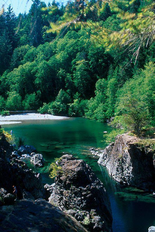 Sooke Potholes Park, Sooke River, Sooke, Victoria, Vancouver Island, British Columbia, Canada