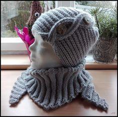 Dies und das Stirnband im Perlmuster Baktus mit 5er Nadeln gestrickt Tuch, auch mit 5er Nadeln gestrickt. Ähnlich dem Bak...