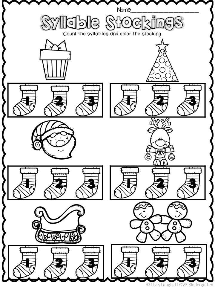 Syllable Worksheet Syllable Worksheet Kindergarten Worksheets Printable Kindergarten Worksheets Kindergarten worksheets about syllables