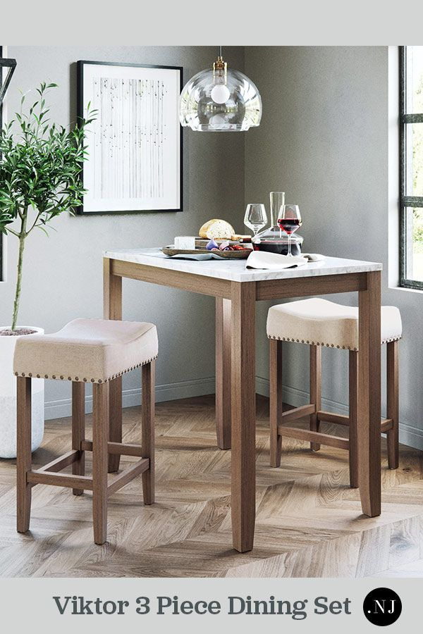 Viktor Is A Modern Contemporary Dining Set For Two An Elegant