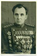 Moskalenko, Kirill Semenovich (11 may 1902 - 17 June 1985) — Soviet military leader, twice Hero of the Soviet Union, Marshal of the Soviet Union. Commander 15th RC (5th Army), 6th Army, 6th Cav.Corp, 38th, 1st Tank, 1st Guard, 40th (1942-1943) and 38th (1943-1945) Soviet Armies in WWII.