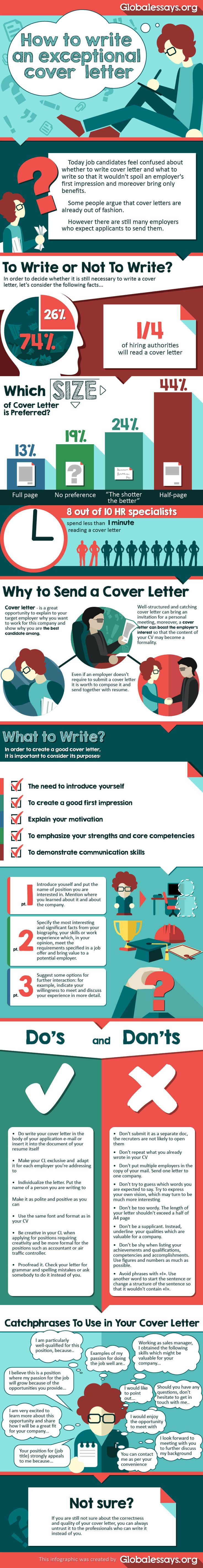 how to write an exceptional cover letter by global essays via tipsographic - What To Write In A Covering Letter