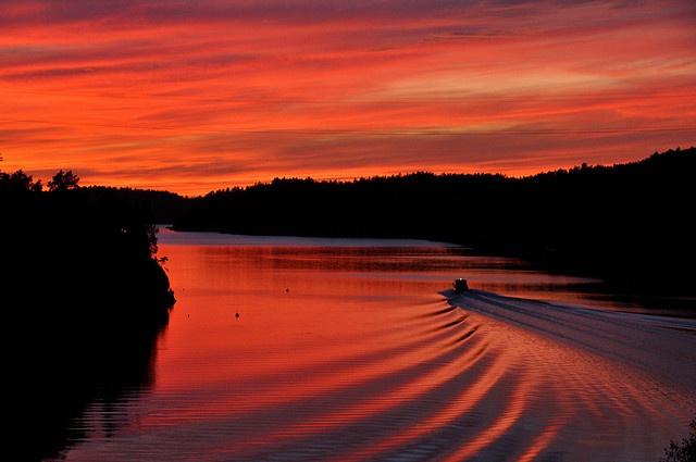 Firey Skies in Noto, Finland