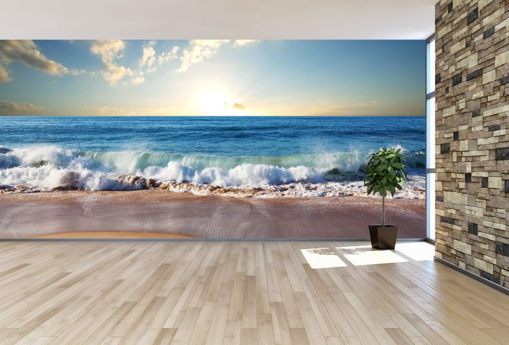 17 best images about beach and tropical wall murals on for Beach scene mural wallpaper