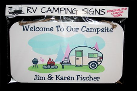 Below are a few examples of camping sign customizations. Original: Customization: Original: Customization: