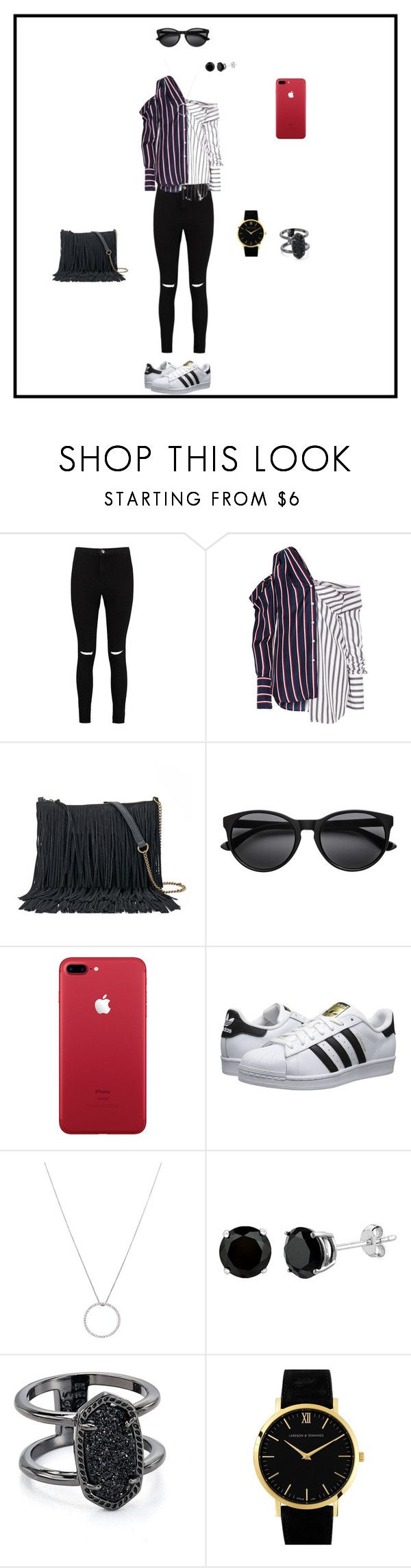 """""""HELLO"""" by drido1 ❤ liked on Polyvore featuring Boohoo, Monse, SONOMA Goods for Life, adidas Originals, Roberto Coin, Kendra Scott and Larsson & Jennings"""