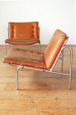 Cognac Kyoto Chairs by Martin Visser