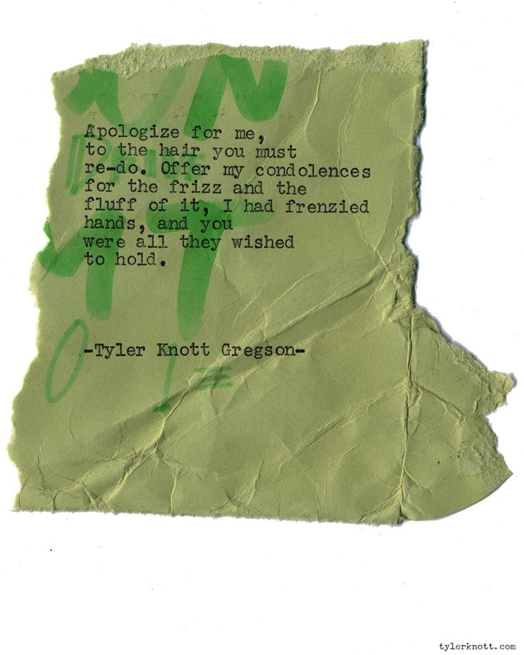 Typewriter Series #1309 by Tyler Knott Gregson*Order All The Words Are Yours, through Amazon, Barnes and Noble, IndieBound , Books-A-Million , or iBookstore! *