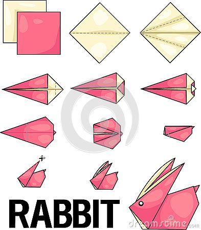 Lapin d origami