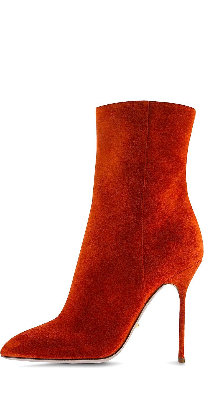 Sergio Rossi orange suede boots! www.missKrizia.com