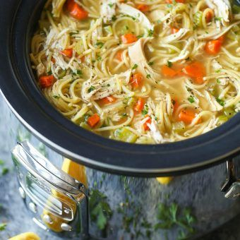 Cold winter days call for warm chicken noodle soup.