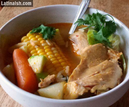 Sopa de Pollo Salvadoreña. Salvadoran Chicken Soup. #recipe #receta #ElSalvador
