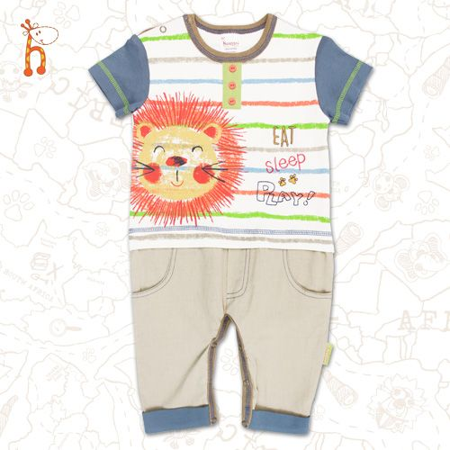Eat Sleep Playsuit #safari #childrensclothing #fairtrade
