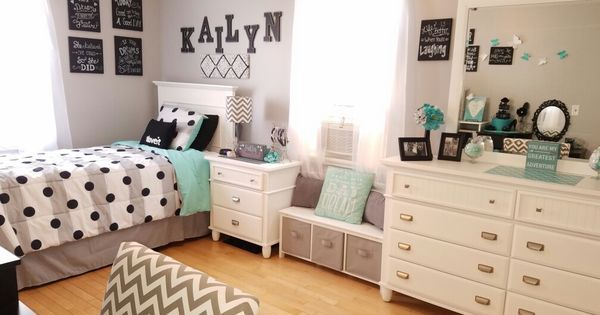 Ideas about Home Design for 2017: Grey and teal teen bedroom ideas for girls