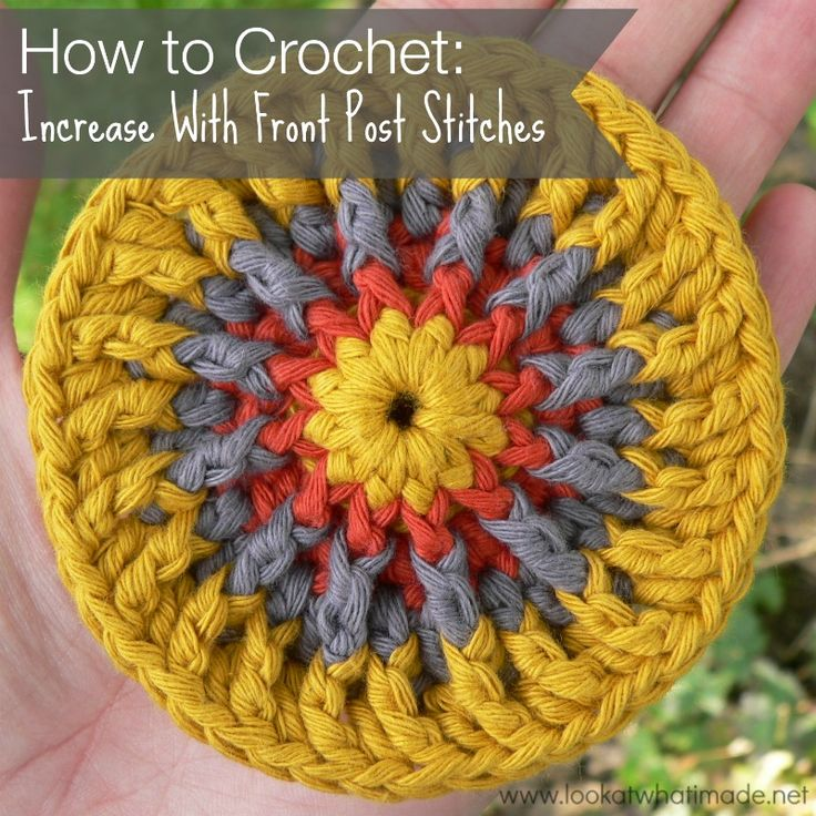 How to Crochet Increase with Front Post Stitches How to Crochet:  Increase with Front Post Stitches, thanks so xox ☆ ★   https://www.pinterest.com/peacefuldoves/