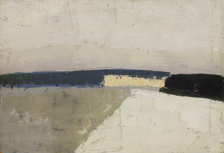 justanothermasterpiece: Nicolas de Staël (French, 1914-1955}, Paysage, 1952.