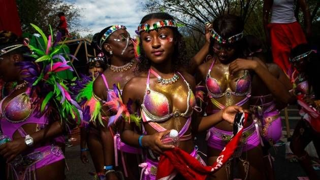 West Indian Day Parade: As you wpould expect, loads of colour  from the West Indies day parade in Brooklyn NY.