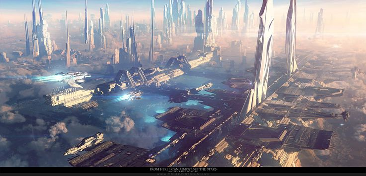 Topnotch Futuristic Cities Illustrations