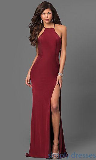 Strappy Open-back La Femme Gown