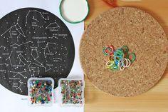 Mapa de las constelaciones para niños