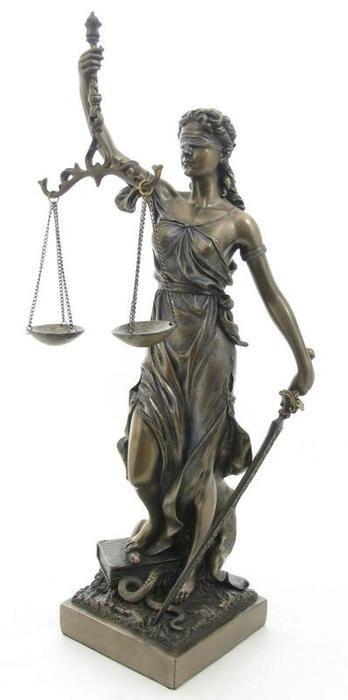 【楽天市場】正義の女神 テミス(テーミス)彫像 ブロンズ風 彫刻 ヴェロネーゼ製 高さ 約32cm弁護士 司法 ...