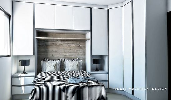 Forma Expressa | Truques para o pequeno quarto de casal com guarda-roupa. (Parte…
