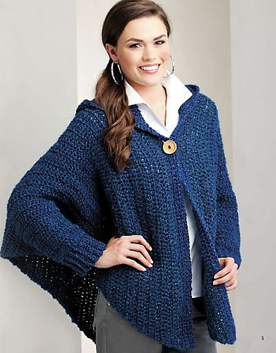 Crochet Patterns For Shawls With Sleeves : 1000+ images about Crochet Wraps/Prayer Shawls on ...