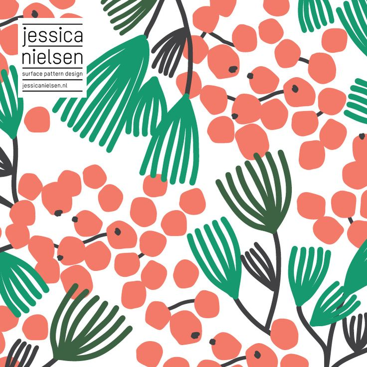 surface pattern design by Jessica Nielsen - Xmas