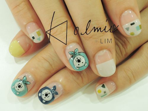 nail snap : 北欧 クマ | 児島亜樹 | 4 SEP. 2014 | LIM | LESS IS MORE