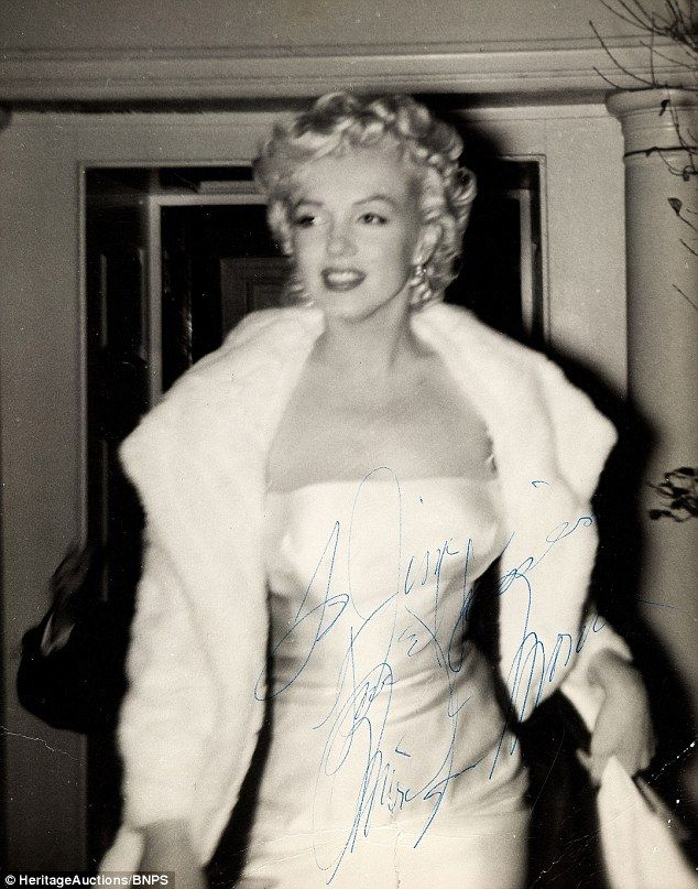 This autographed photo of Marilyn Monroe was taken in 1955 by superfan James Collin. The image is a part of James' personal collection.