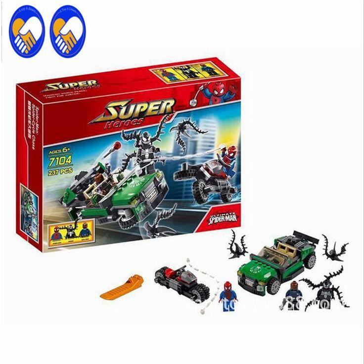 A Toy A Dream 237pcs Decool 7104 Marvel Super Heroes Ultimate SpiderMan Building Blocks Set DC blocks Bricks Compati Lepin Toys