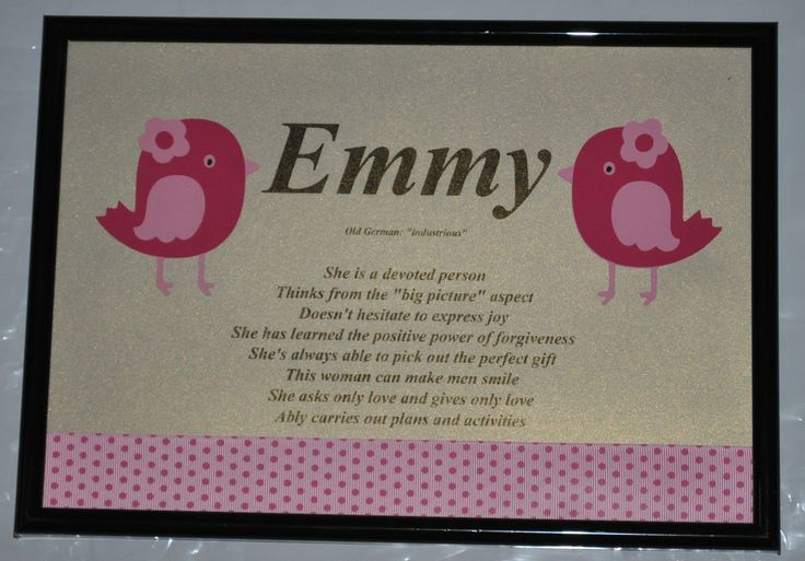 Tweet! Tweet!  Customise a Name Meaning for your child's room  Pink Bird Theme