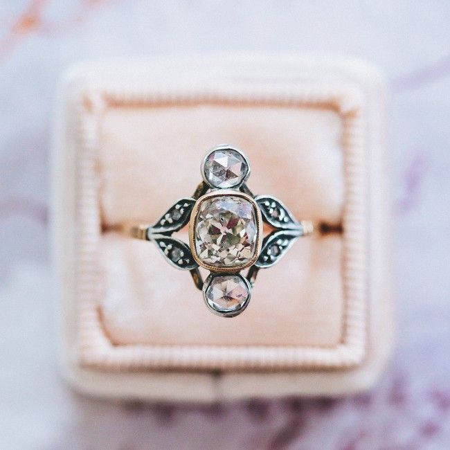 incredibly unique vintage art nouveau ring from trumpet horn