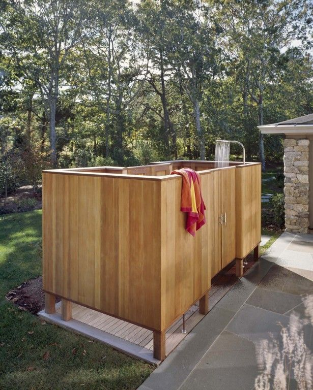 outdoor shower with ash wood shower room barrier also rainfall shower head and