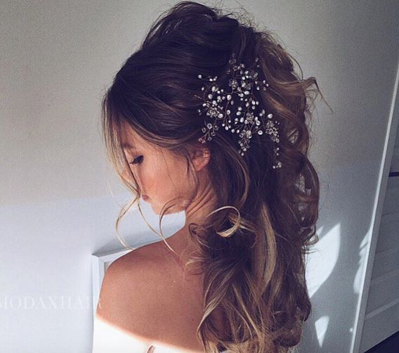 But flowers not crystals Wedding hair