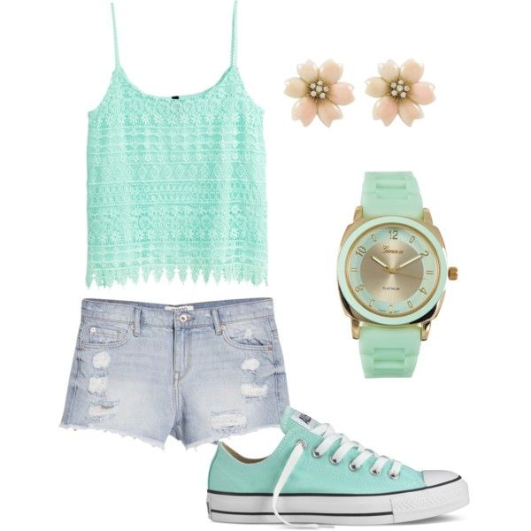 Geen titel #12 by ninavanoss on Polyvore featuring polyvore, mode, style, H&M, MANGO, Converse and Geneva