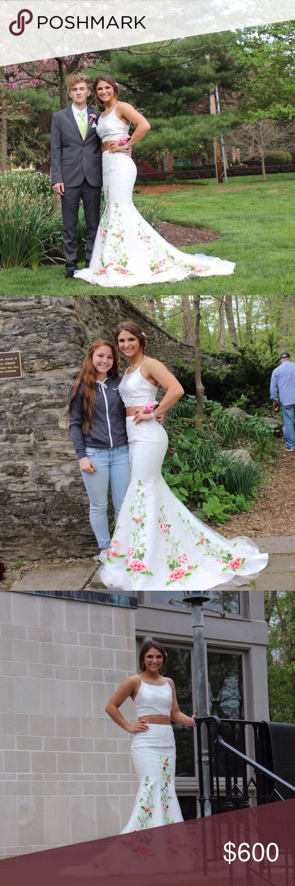 Sherri hill prom dress !!!! This is a Sherri hill, size 2 prom dress. It is a two piece mermaid!! Only worn once for prom!! Sherri Hill Dresses Prom