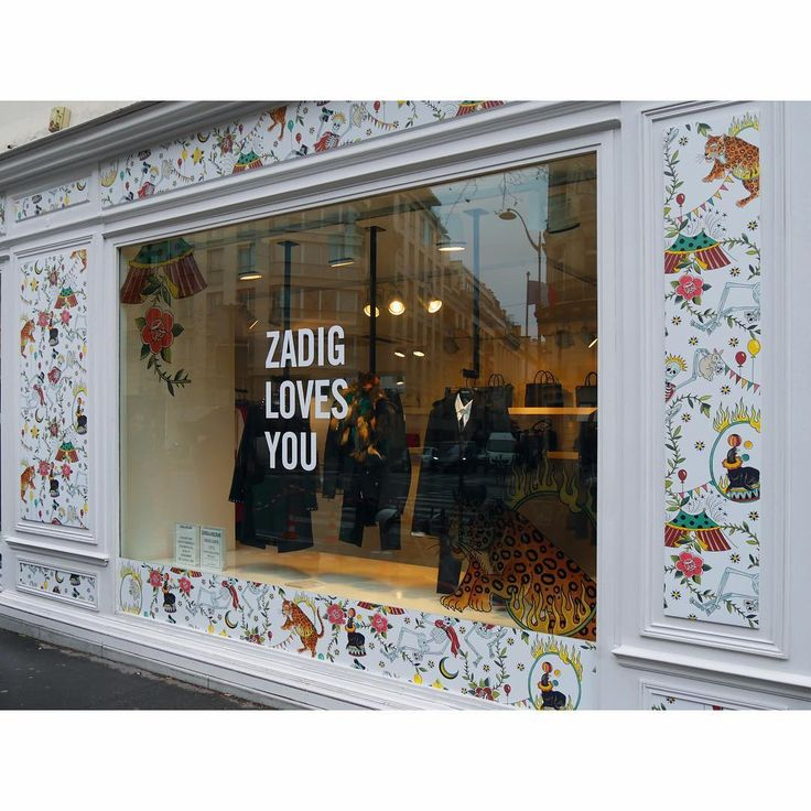 "ZADIG AND VOLTAIRE, Boulevard St.Germain, Paris, France, ""Colourfull Mix"", creative by Virginia Elwood (Tatoo Artist), photo by Blacks Visual London,  pinned by Ton van der Veer"
